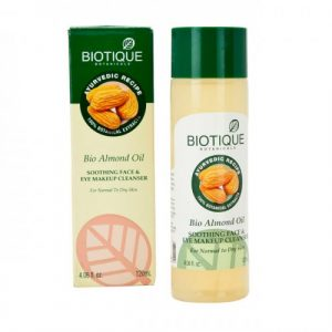 Biotique Bio Almond oil soothing face eye makeup cleanser