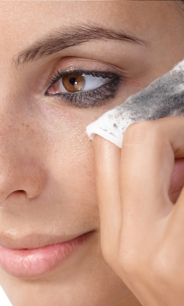 Remove make-up and lashes